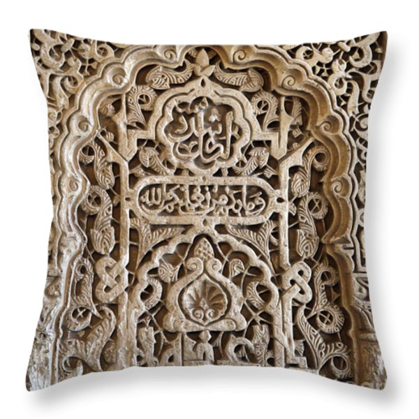 Alhambra wall panel Throw Pillow by Jane Rix