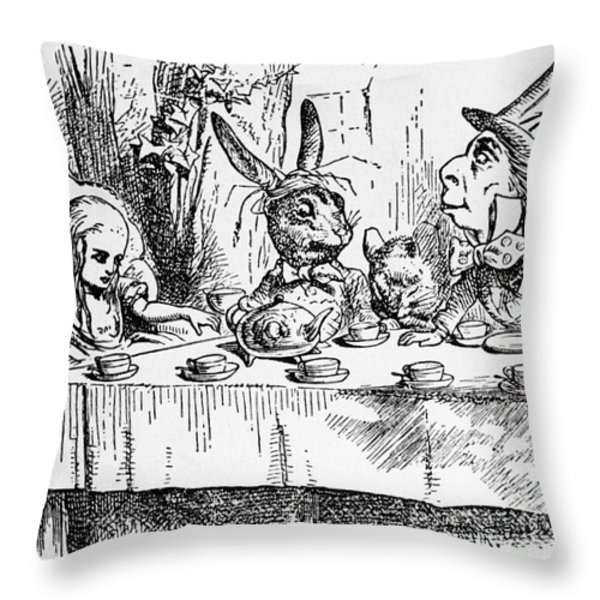 Alice In Wonderland Throw Pillow by Photo Researchers, Inc.