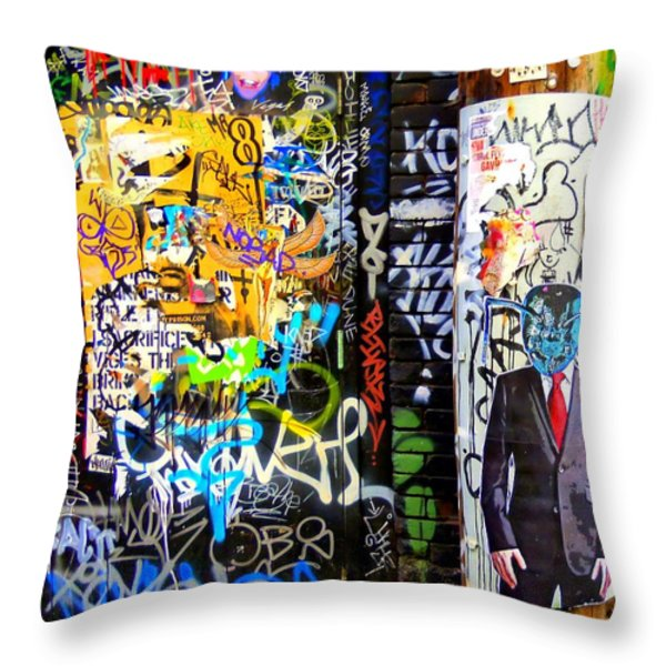 Alien Suit 1 Throw Pillow by Randall Weidner