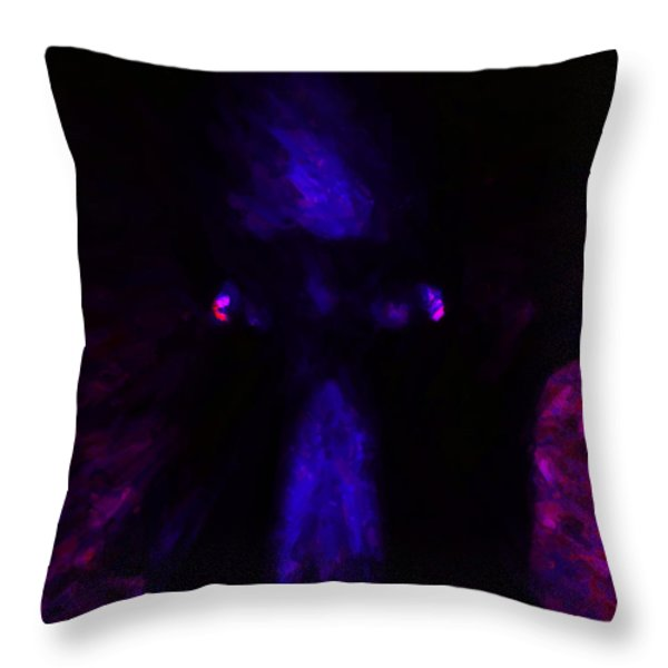 Aliens - First Contact - Blue Throw Pillow by Wingsdomain Art and Photography