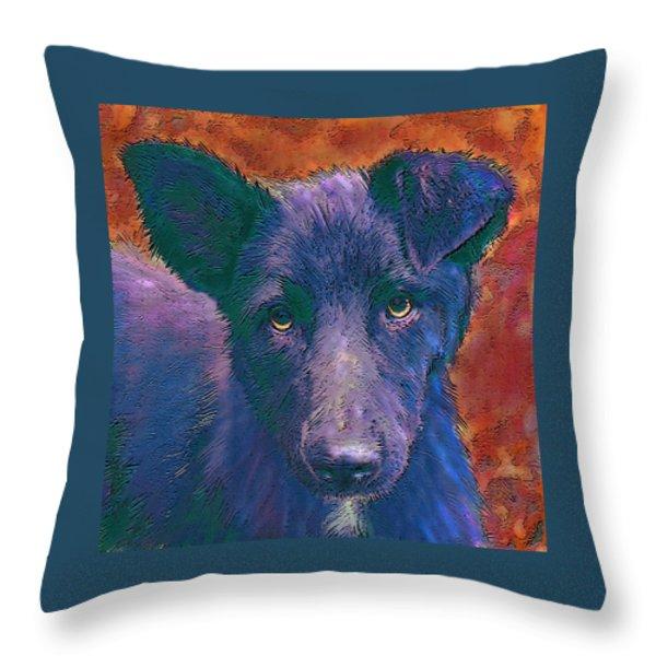 All American Mutt Throw Pillow by Jane Schnetlage