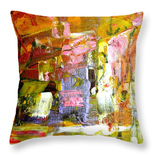 All Day Long Throw Pillow by Wayne Potrafka