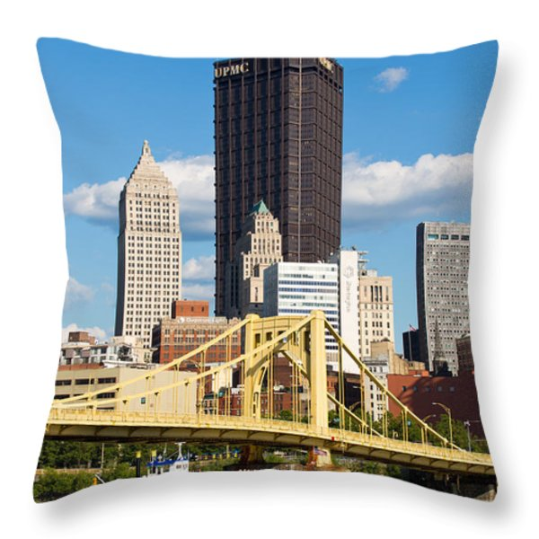 Allegheny Riverfront Throw Pillow by Emmanuel Panagiotakis