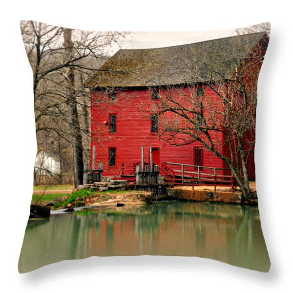 Alley Mill 4 Throw Pillow by Marty Koch