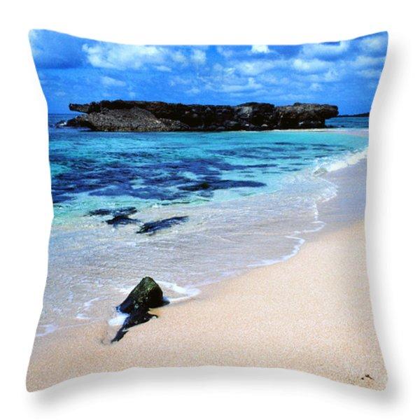 Alligator Rock North Shore Oahu Throw Pillow by Thomas R Fletcher