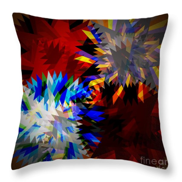 allure blade Throw Pillow by ATIKETTA SANGASAENG