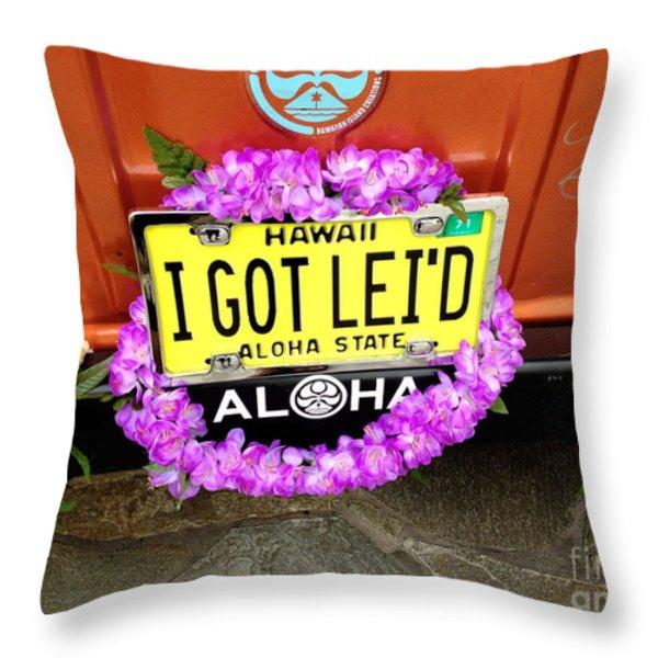 Aloha Throw Pillow by Cheryl Young