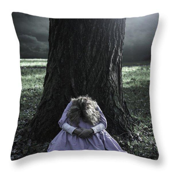 alone at night Throw Pillow by Joana Kruse