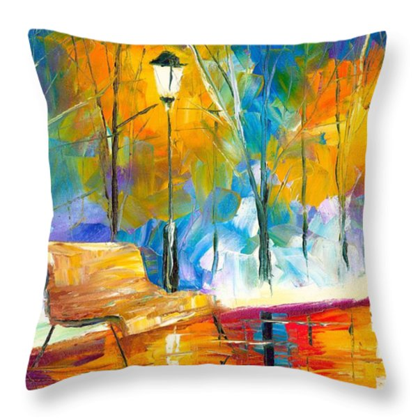 Alone Time Throw Pillow by Jessilyn Park