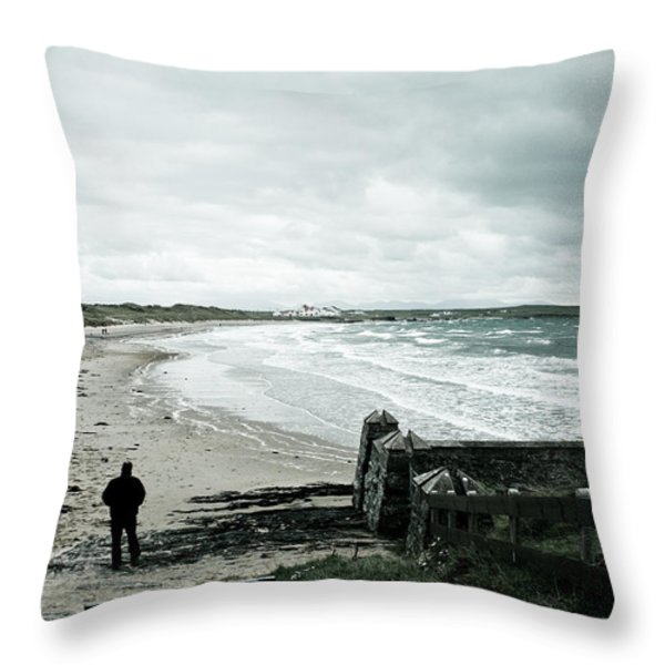 Alone Without You Throw Pillow by Nomad Art And  Design
