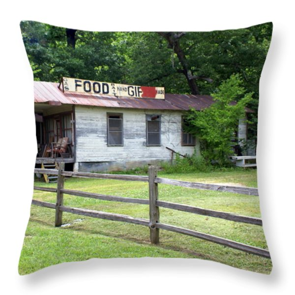 Along Route 66 Throw Pillow by Marty Koch