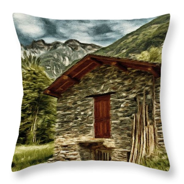 Alpine Ruins Throw Pillow by Jeff Kolker