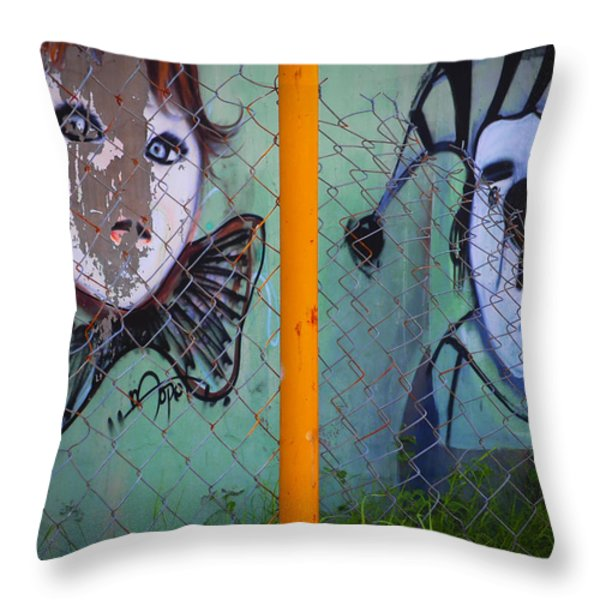 Always Greener Throw Pillow by Skip Hunt