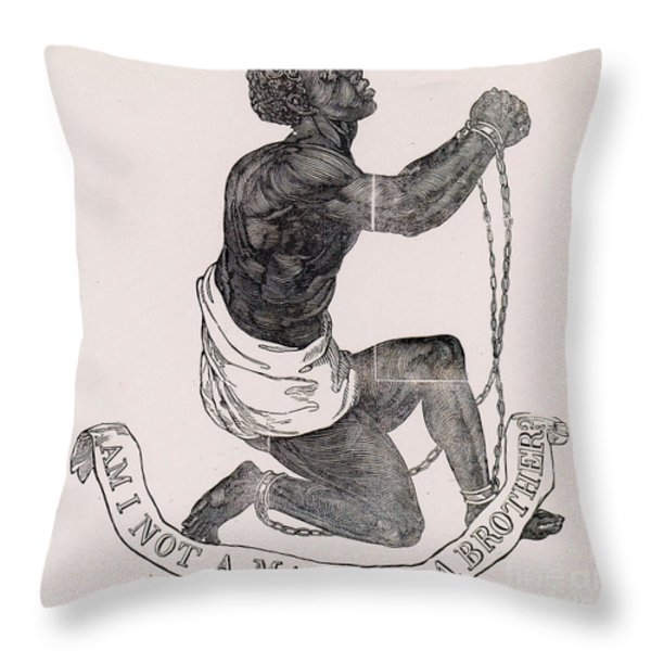 Am I Not A Man And A Brother Throw Pillow by Photo Researchers