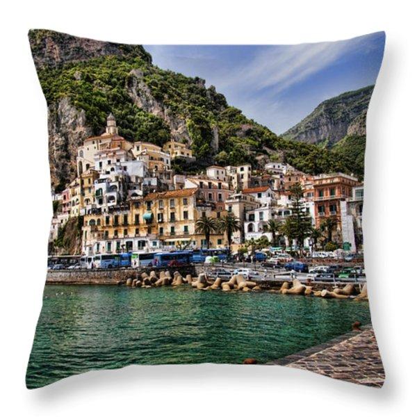 Amalfi Throw Pillow by David Smith