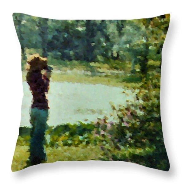 Amateur 1973 Throw Pillow by Kristin Elmquist