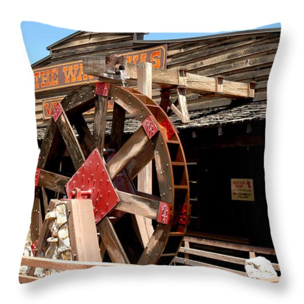 America Water Wheel Throw Pillow by LeeAnn McLaneGoetz McLaneGoetzStudioLLCcom