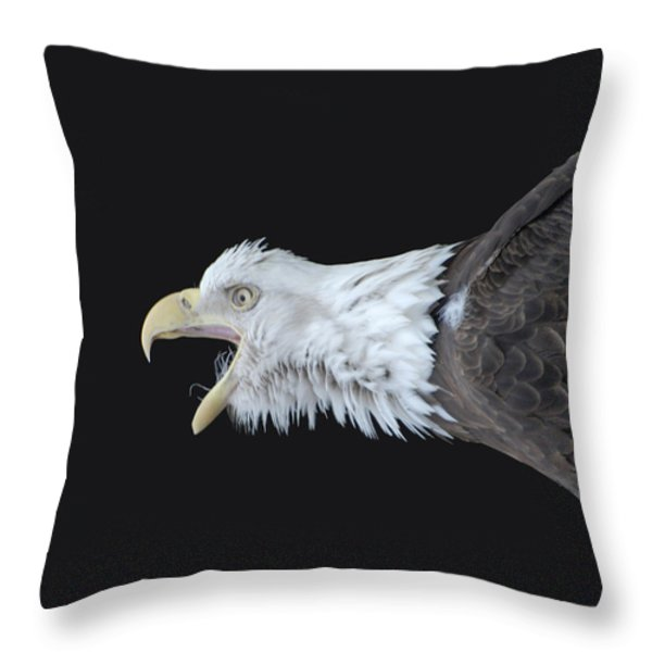 American Bald Eagle Throw Pillow by Paul Ward