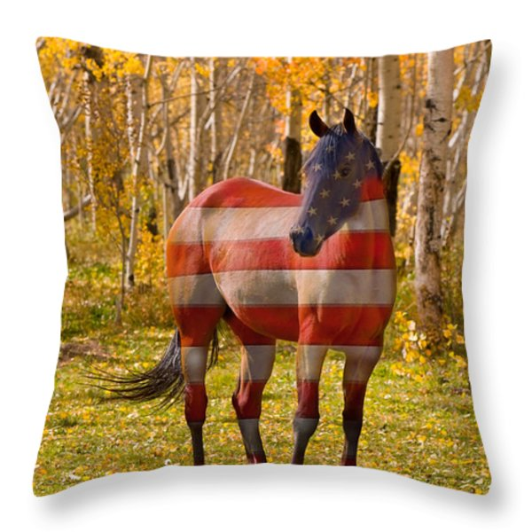 American Bred Throw Pillow by James BO  Insogna