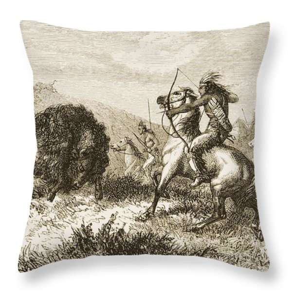 American Indians Buffalo Hunting. From Throw Pillow by Ken Welsh