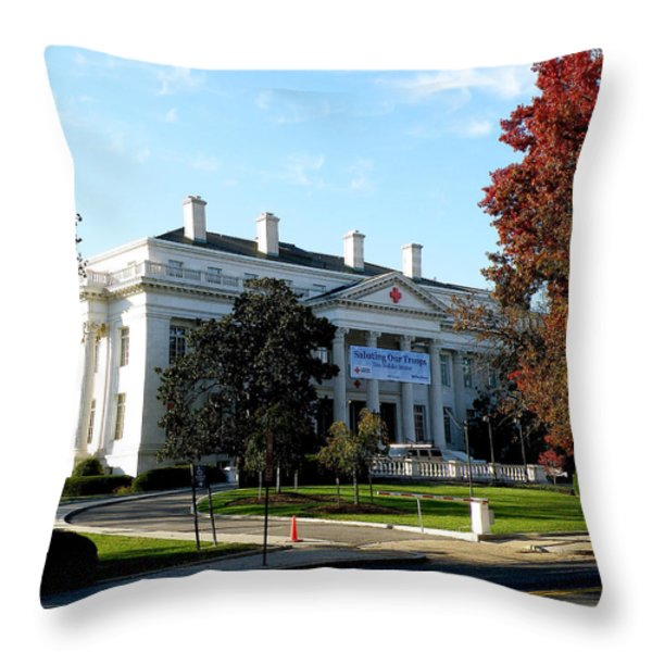 American Red Cross Hq In Washington Throw Pillow by Feva  Fotos