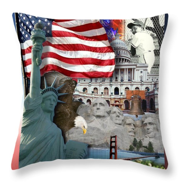 American Symbolicism Throw Pillow by Gravityx Designs