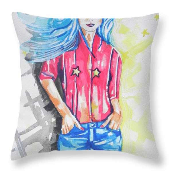 American Women...are We Free Throw Pillow by Chrisann Ellis