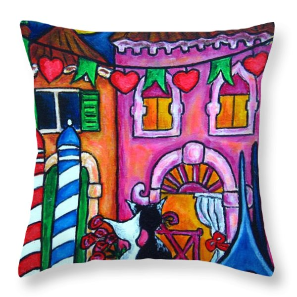 Amore In Venice Throw Pillow by Lisa  Lorenz