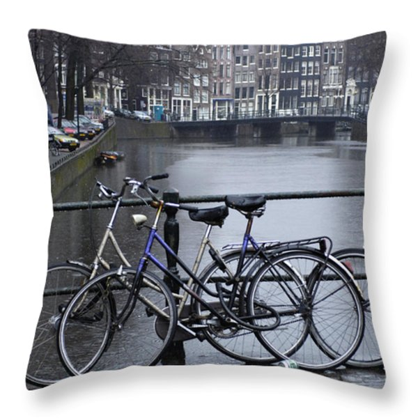 Amsterdam The Netherlands Throw Pillow by Bob Christopher