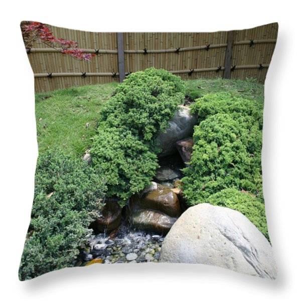 An Afternoon In A Japanese Garden Throw Pillow by Nina Fosdick