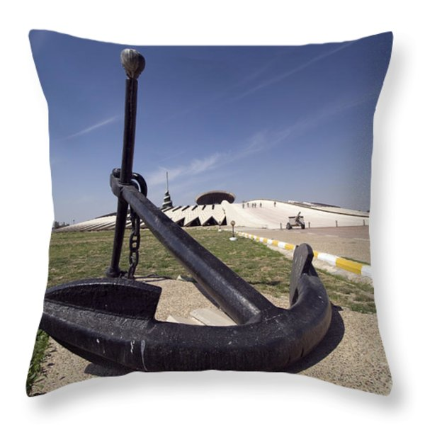 An Anchor Sits At The Entrance Throw Pillow by Terry Moore
