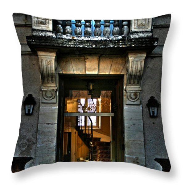 An Evening Welcome Throw Pillow by Nomad Art And  Design