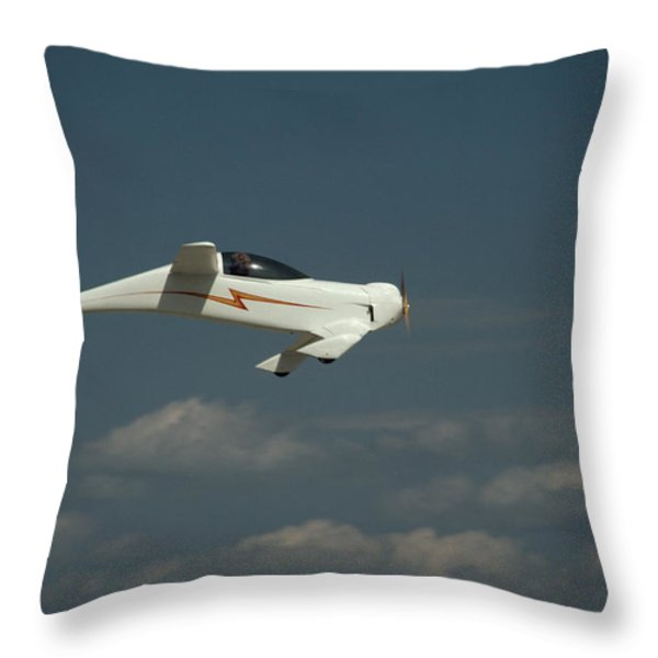 An Experimental Aircraft, The Quickie Throw Pillow by Micheal E. Long