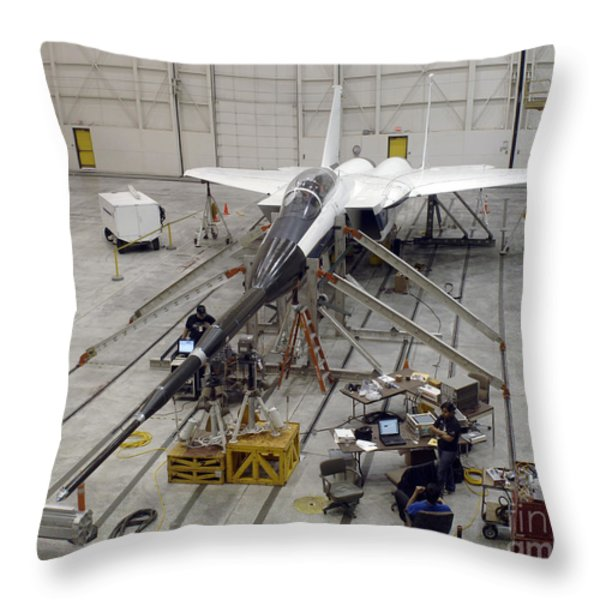 An F-15b Testbed Aircraft Undergoes Throw Pillow by Stocktrek Images