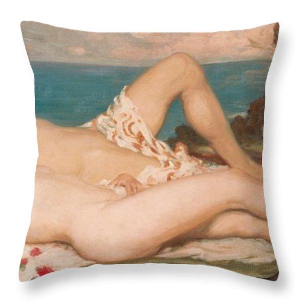 An Idyll Throw Pillow by Rupert Charles Wolston Bunny