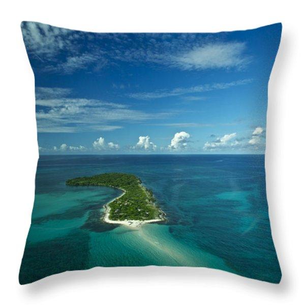 An Island In The Quirimbas Archipelago Throw Pillow by Jad Davenport