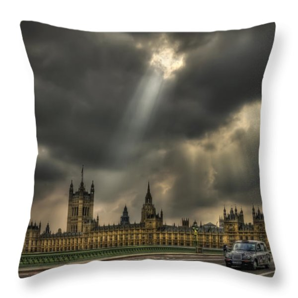 An Ode To England Throw Pillow by Evelina Kremsdorf