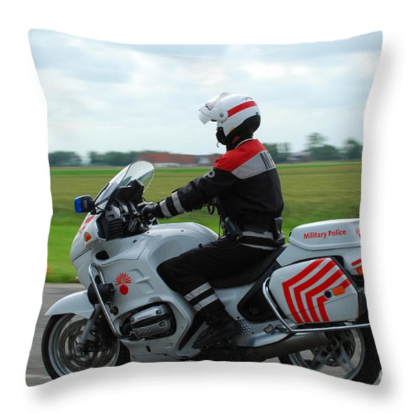 An Officer Of The Military Police Throw Pillow by Luc De Jaeger
