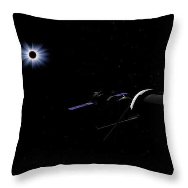 An Orion Class Crew Exploration Vehicle Throw Pillow by Walter Myers