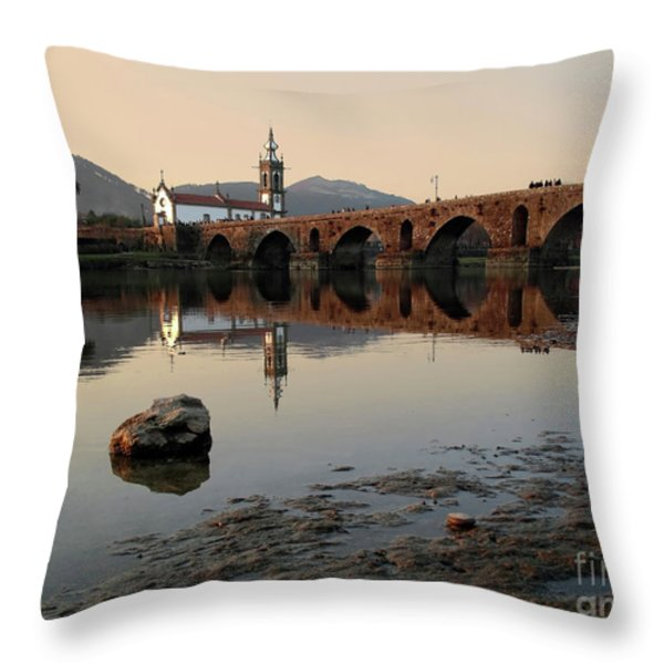 Ancient Bridge Throw Pillow by Carlos Caetano