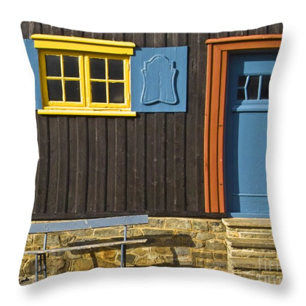 Ancient Frontage Throw Pillow by Heiko Koehrer-Wagner