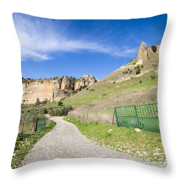 Andalucia Countryside in Spain Throw Pillow by Artur Bogacki