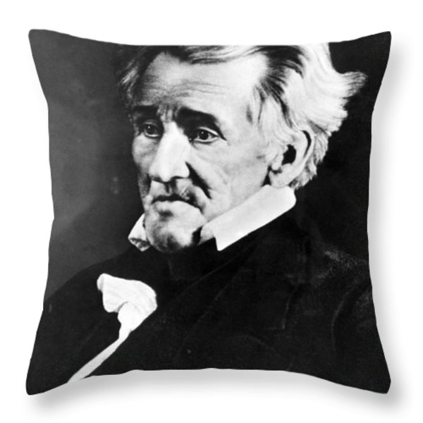 Andrew Jackson, 7th American President Throw Pillow by Omikron