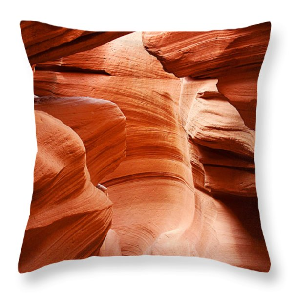 Anelope Canyon - What A Wonderful World Throw Pillow by Christine Till