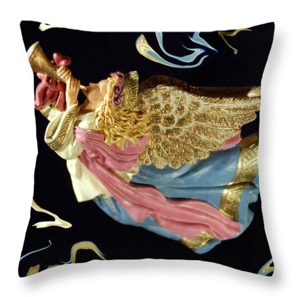 Angel Art Throw Pillow by Aimee L Maher Photography and Art
