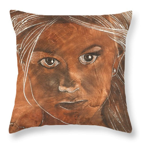 Angel In Process Head Detail Throw Pillow by Richard Hoedl