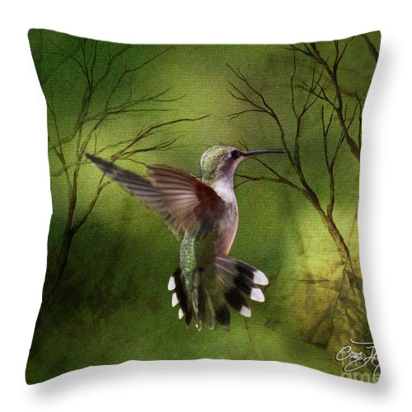 Angel Wings Throw Pillow by Cris Hayes