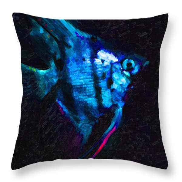 Angelfish Throw Pillow by Wingsdomain Art and Photography