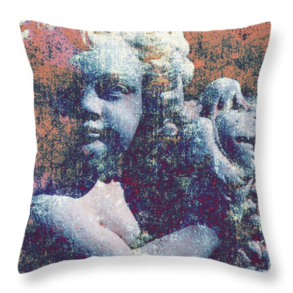 Angelina Throw Pillow by Susanne Van Hulst