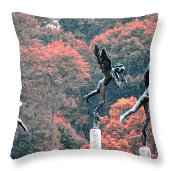 Angels Throw Pillow by Bill Cannon
